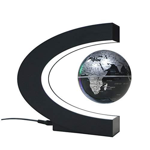 Magnet Globus, Magnetische Kugeln Globen LED Schwimmende Kugel World Karte C Form als Büro Schreibtisch Dekoration, Rotierende Erde Globus Kugel Kinderspielzeug Geschenk