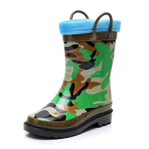 Department Store Gummistiefel Kinder Regenstiefel wasserdichte rutschfeste Mittlere Röhre Wasser Schuhe Warme Überschuhe Grundschüler Regenschuhe (Color : B, Size : 30)