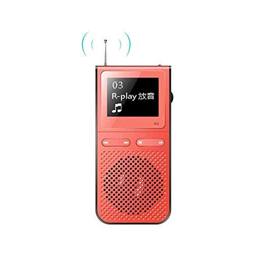 Sdesign Lettore mp3, stoccaggio Estensibile, Suono Senza Perdita di HiFi, Walkman Portatile per Lo Sport, Lettore MP3 / Radio FM / MP3 Walkman con Altoparlante Incorporato (Color : Red)