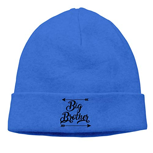 LKQTH Soon to Be Big Brother Unisex Cuffed Plain Skull Cap Stretchy Soft Beanie Hat Blue