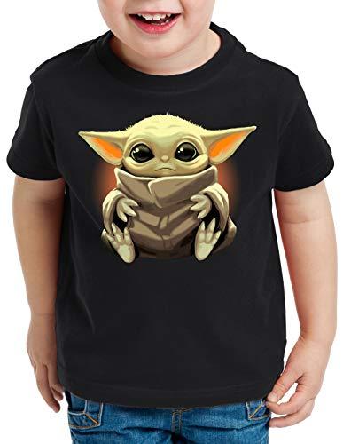 A.N.T. Chibi Yoda T-Shirt für Kinder Mini Mando kopfgeldjäger, Größe:140