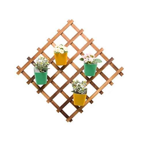 Soporte para flores al aire libre montado en la pared de madera de panal de abeja, estante de flores plegable, para ahorrar espacio, 3 estilos