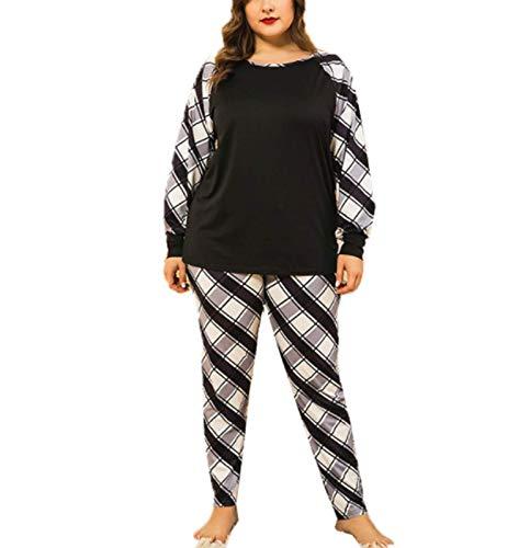XINGYU Ropa para Dormir Camisones para Mujer Traje De Dos Piezas Manga Larga Pantalones Pijamas Impresión Suelto Primavera Y Verano Hogar Ropa