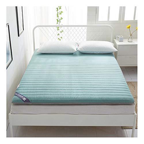 WSGJHB katoenen Tatami matras topper, Japanse gewatteerde Fitted Futon matras dikker opvouwbare vloermat niet-slip, enkele dubbele vloer slaapkussen voor woonkamer matras 100x190cm(39x75