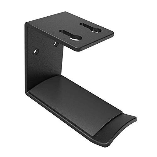 Timagebreze Soporte para Auriculares Soporte para Auriculares Montado en la Pared Soporte para Monitor de Escritorio Gancho Soporte para Auriculares Soporte de AleacióN de Aluminio Negro