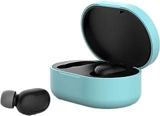 Hejia - Funda de silicona para auriculares, accesorios de protección completa compatible con Redmi Airdots, funda protectora para auriculares, 2, 64*42*30mm