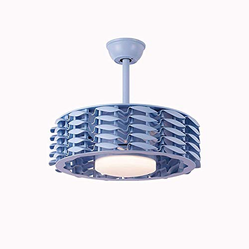 Lámpara de techo sin hojas para ventilador de techo, luz de techo, conversión de frecuencia, color azul