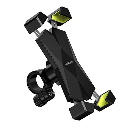 UGREEN Handyhalterung Fahrrad Handyhalter Motorrad Handy Halter 360 Grad Fahrradlenker Handy Halterung Rennrad Lenker kompatibel mit iPhone 12 11 XR, Galaxy S20, Huawei P30 usw. bis 6.5 Zoll