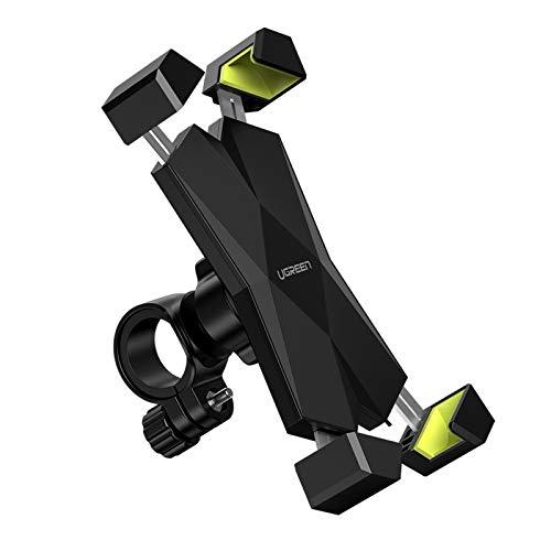 UGREEN Handyhalterung Fahrrad Handyhalter Motorrad Handy Halter Metall 360 Grad Fahrradlenker Handy Halterung Rennrad Lenker kompatibel mit iPhone 12 11 XR, Galaxy S20, Huawei P30 usw. bis 6.5 Zoll