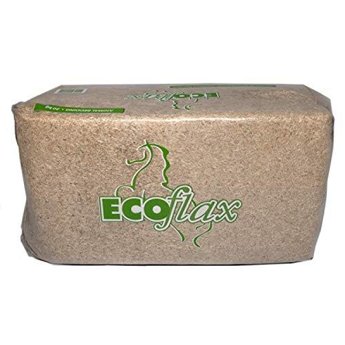 MillStore Lettiera Ecoflax di Paglia di Lino per Il Box dei Cavalli, Polli e Conigli - 120 Litri / 20 kg