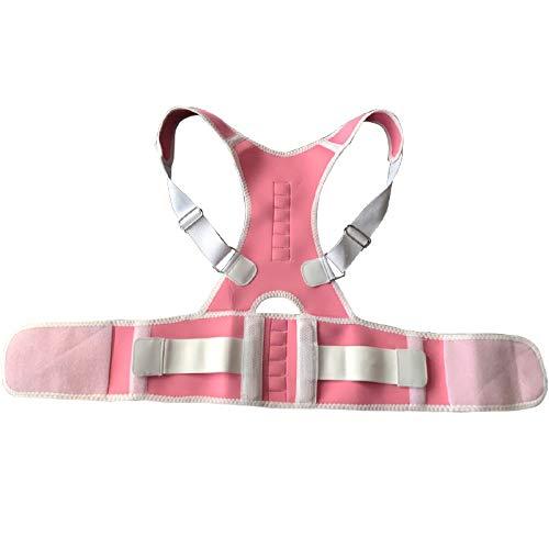 JIUYUE Corset Adulto Espalda Corsé Ortopédico Volver Postura Corrector Chaleco Columna de Soporte Lumbar Volver Postura Corrección Vendaje para Hombres Mujeres (Color : Pink, Size : XL)