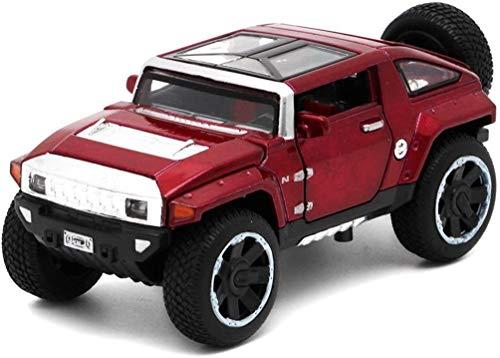 KJAEDL Modelo de Coches para niños Escala de fundición a presión de aleación de Juguete Hummer HX Concept-o-Terreno analógico 1:32 Modelo de Coche 1.5x6x5CM (Color : Red, Size : One Size)