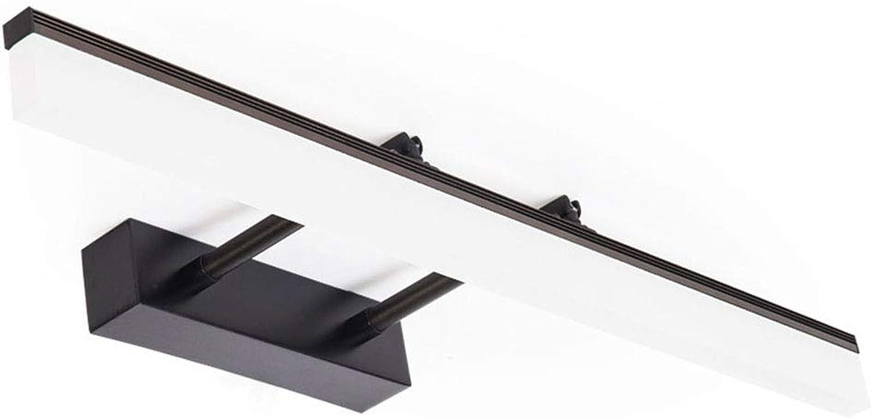Spiegelleuchten Nordic Mirror Scheinwerfer, Schwarzer Spiegel Kabinett Lampe Aluminium Einziehbare LED Spiegel Scheinwerfer Badezimmer Spiegelschrank (Farbe   Weies Licht-40 cm)