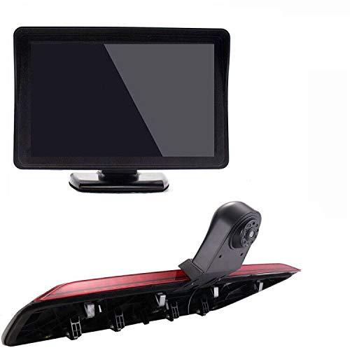 Kalakus HD Dritte Dach Bremsleuchte Rückfahrkamera Dachkamera Einparkhilfe+ 4,3 Zoll TFT LCD Bildschirm Monitor Transporter für VW Crafter dritte 3 ab Bremslicht Van Brake Light