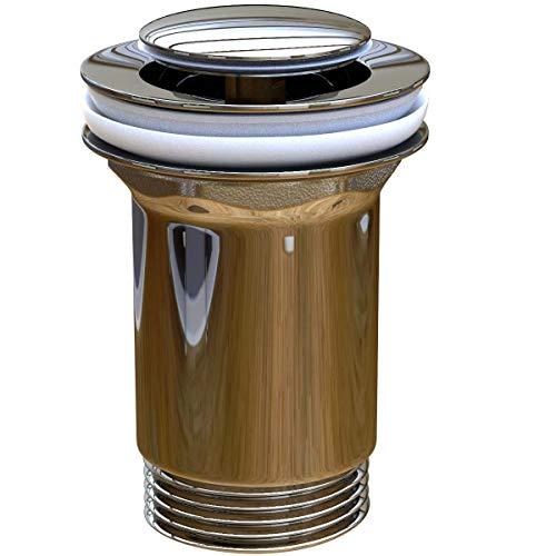 Waschbecken24 Universal Ablaufgarnitur P6 Ablaufventil Pop Up Ventil für Waschbecken Badezimmer Gäste WC (Kappe Rund Ø36mm)