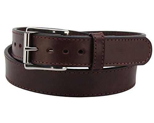 Max Thickness Work Gun Belt - Rigid CCW Belts for Men - Made in USA, Brown - 44