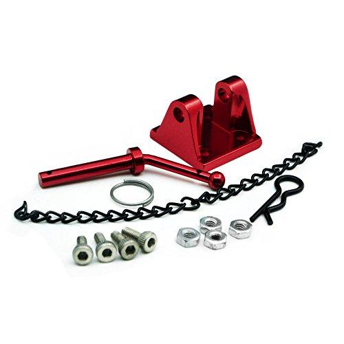 ZuoLan Rouge 1/10 Échelle Remorquage Tow Schackel Crochet de remorquage pour RC Modèle Voiture Axial SCX10 D90 TF2