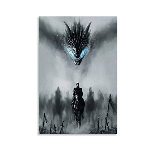 ASDYO Póster decorativo de Game of Thrones Night King Cover de 20 x 30 cm