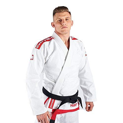 Manto Everyday Porrada BJJ Gi Blanco brasileño Jiu Jitsu Uniforme Kimono Gi, Color Blanco, tamaño A2L