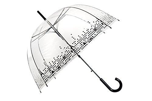 SMATI Parapluie Cloche Transparent Paris