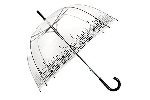 SMATI Ombrello classico Paris lungo da donna cupola Trasparente - apertura automatica