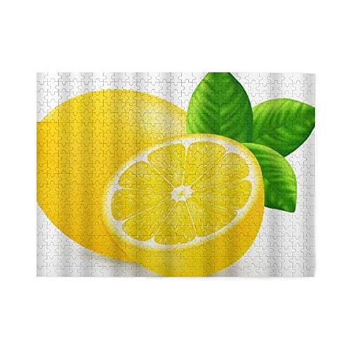 NANITHG 500 Piezas Rompecabezas Rompecabezas Hojas de limón Producto natural Mercado de agricultores Alimentos Fruta fragante Vitamina fresca Familia Educativo Intelectual Descompresión Diversión para