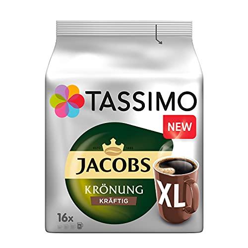 Tassimo Kapseln Jacobs Krönung Kräftig XL, 80 Kaffeekapseln, 5er Pack, 5 x 16 Getränke 720 g