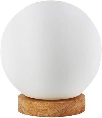 OKMIJN Lámpara de mesa, esférica decorativo creativo cristal ...