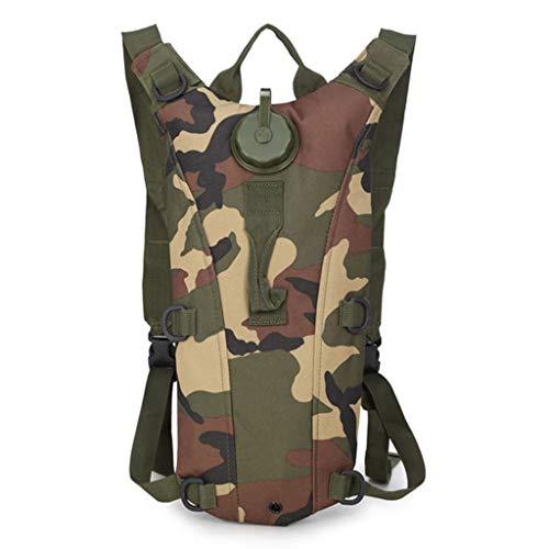 Wasser Tasche Rucksack, wasserdichte Nylon 3l Liner Licht Wassertank Rucksack Outdoor Fahrrad Reiten Tasche Geeignet for Wandern Laufen Camping (Color : Jungle Camouflage)