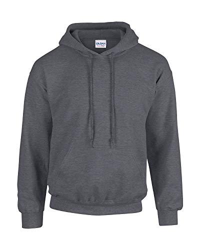 Gildan Herren Adult 50/50 Cotton/Poly. Hooded Sweat Sweatshirt, Gr. L, DarkHeather