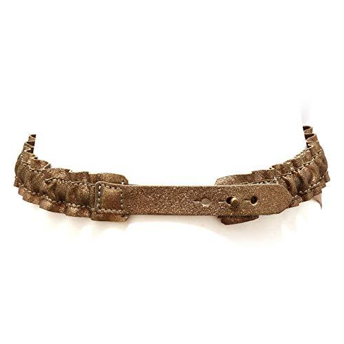 MAURO GRIFONI 7883AC cintura elasticizzata bimba girl vintage leather belt [2 (52-72 CM)]
