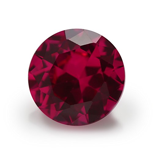 5# Red Round Shape Synthetic Corundum Lab Created Ruby (4.0mm 100pcs)