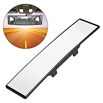 """Rear View Mirror 12"""" High Definition Anti-Glare Wide Angle Curve Large Field Universal Panoramic Car Rearview Mirror Interior Clip on Original Mirror to Reduce Blind Spots"""