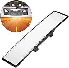 """Rear View Mirror, 12"""" High Definition Anti-Glare Wide Angle Curve Large Field Universal Panoramic Car Rearview Mirror Interior Clip on Original Mirror to Reduce Blind Spots"""