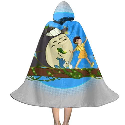 NUJSHF Hakuna Totoro My Vicino Studio Ghibli Mantello con Cappuccio Unisex per Bambini, Decorazione per Feste di Halloween e Cosplay