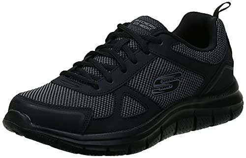 Skechers Men's TRACK BUCOLO Trainers, Charcoal/Lime, 10 UK 45 EU