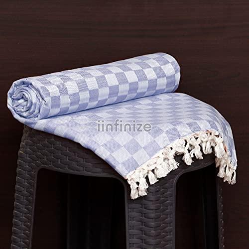 iinfinize 228 x 127 cm marokkanisches Wende-Bettlaken, Quasten, Bettbezüge, Vintage-Tagesdecke, Viskose-Tagesdecke, Wandteppich, Sommerdecke, Körperbezug