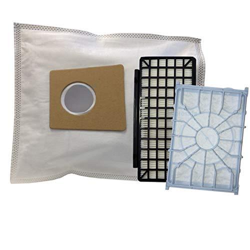 20 Staubsaugerbeutel + 1 Hepa- & 1 Motorfilter für Siemens VSQ8SEN72C Staubsauger Q 8.0 eco von Microsafe®