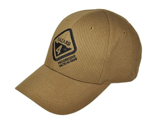 Hazard 4 Kappe Embroidered Logo Cap, Coyote, One size