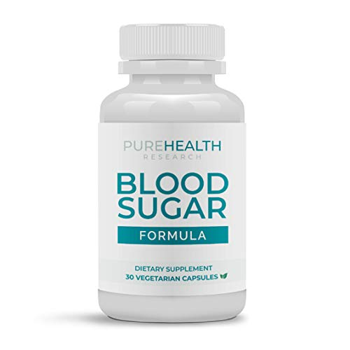 Blood Sugar Formula Supplement by PureHealth Research (Non-GMO) Maintain Healthy Blood Sugar Levels and Regulate Blood Pressure Naturally