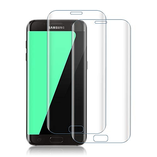 SIIYUTT Panzerglas für Samsung Galaxy S7 Edge [2 Stück], 9H Härte Displayschutzfolie, Hohe Empfindlichkeit Schutzfolie, HD-klar Transparenz Panzerglasfolie für S7 Edge vor Kratzen, Öl, Bläschen