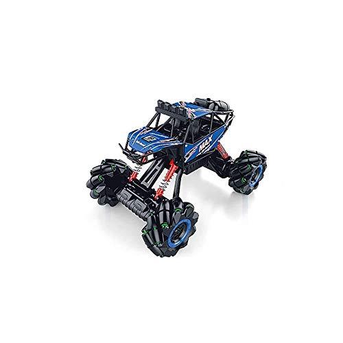 ADLIN Terrain Rc Cars, 2,4 GHz Super-kollisionssicherere Fernbedienung Auto-Akku, High-Speed-Buggy Monster Truck Crawler, Einzelradaufhängung, Geschenk for Kinder EIN (Color : Blue)