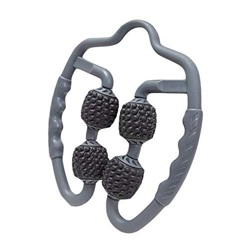 KOIUJ Leg Massager del muscolo, Yoga Relaxation fitness Full Body Massager con 4 ruote, utilizzato in esercitazione di ginnastica Gamba, Colore: grigio