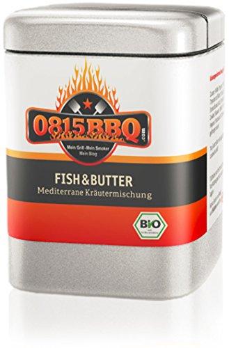 0815BBQ Fish&Butter, Fischgewürz in Bio Qualität (1 x 40g)