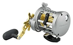 """Line Capacity: MONO: 14/490, 20/295, 25/230, BRAID: 40/380, 50/280, Weight: 19.4oz Max Drag: 15.4lbs, Line per Handle Turn: 35"""", Gear Ratio: 6.1:1 Rugged, all metal construction with rigid, one-piece aluminum frame Four CRBB shielded, corrosion-resis..."""