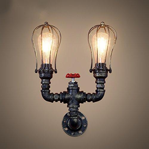 JJZHG wandlamp wandlamp waterdichte wandverlichting retro waterleiding muur E27 bar tafel restaurant persoonlijkheid creatieve wand 23 * 13 cm bevat: wandlamp, stoere wandlampen