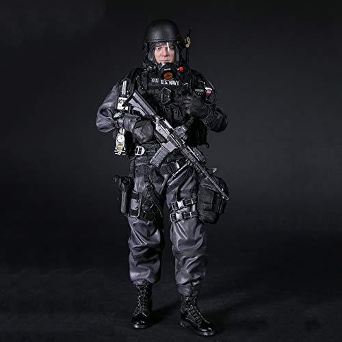ZH 1/6 Navy Commanding Officer Soldado Militar Figuras De Acción Modelo De Estatua De Juguete Colección Muñecas De Materiales De Protección del Medio Ambiente De PVC con Accesorios Muy Detallados