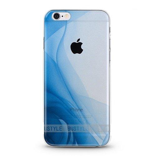 Preisvergleich Produktbild ITGM Hülle kompatibel mit iPhone 6,  6S Schutzhülle Blue Wave TPU Hülle Cover Handyhülle Bumper leichte Handytasche Hülle mit Foto Silikon Case Hüllen Sorgen für kratzfesten Schutz (Blue Wave)