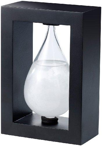 Carlo Milano Wetterglas: Modernes Fitzroy-Sturmglas in Tropfenform, 14cm (Fitzroy Wetterstation)