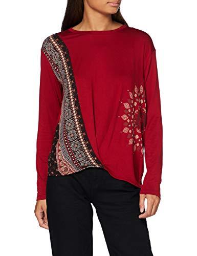 Desigual TS_MARSELLA T-Shirt, Rosso, S Donna